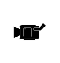 camcorder icon design template isolated vector image