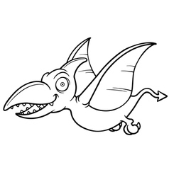 Cartoon pteranodon vector image