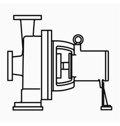 Centrifugal pump icon vector