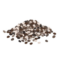 Chia seeds isolated on white background vector