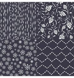 Christmas pattern set vector image