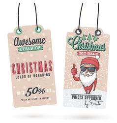 Christmas sales hang tags vector
