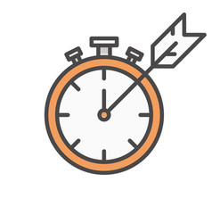 clock timer with arrow icon for computer vector image