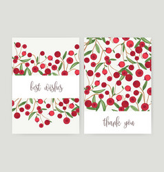 collection of postcard templates with forest vector image