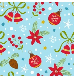 Colorful Christmas seamless pattern vector image