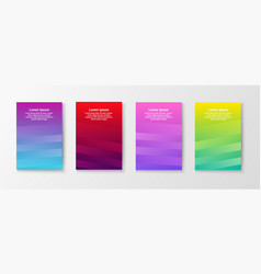 colorful elegant bright brochures vector image