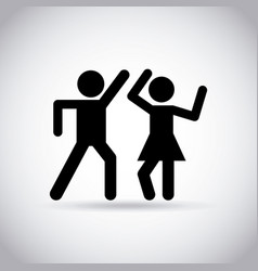 Couple dancing design vector