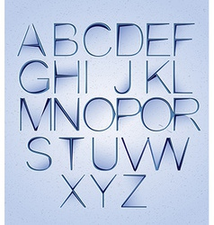 Cutted paper alphabet vector image