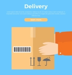 Delivery Concept Web Banner in Flat Style Design vector image