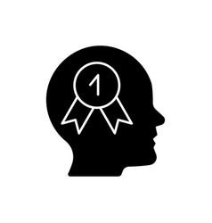 Desire to win black glyph icon vector