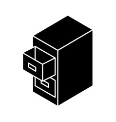 document filing cabinet isometric vector image