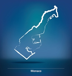 Doodle Map of Monaco vector