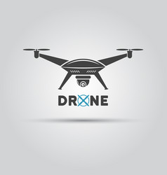 drone with video camera isolated icon vector image