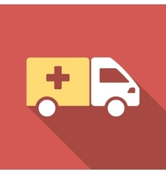 Drug Shipment Flat Square Icon with Long Shadow vector image