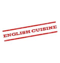 English Cuisine Watermark Stamp vector