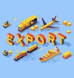Export road air concept vector