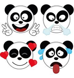 Expressions a panda bear vector