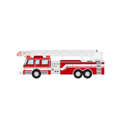 fire truck isolated vector image