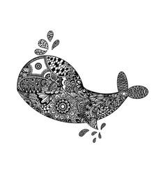 fish line art design tribal pattern vector image