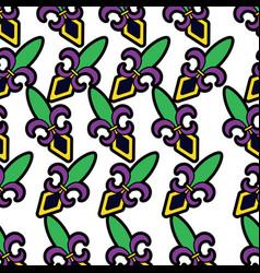 fleur de lis mardi gras carnival pattern image vector image