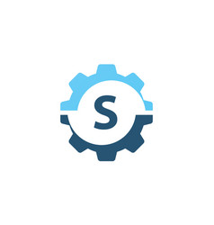 Gear solution logo initial s vector