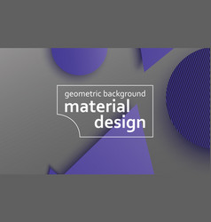 geometric background material design vector image