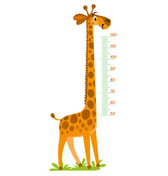 Giraffe meter wall or height chart vector