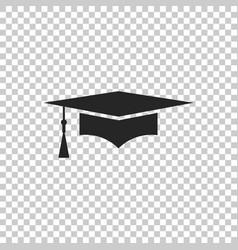 Graduation cap icon graduation hat with tassel vector