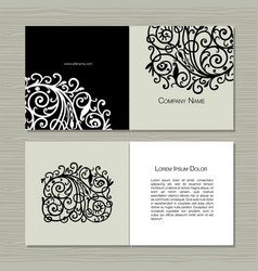 Greeting cards design floral background vector