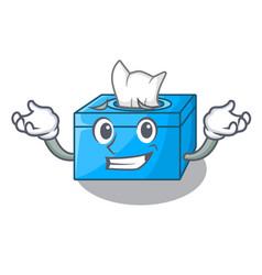 Grinning cartoon tissue box in the restaurant vector