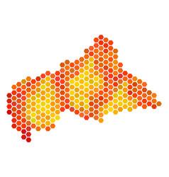hot hexagon central african republic map vector image