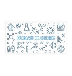 Human cloning banner vector