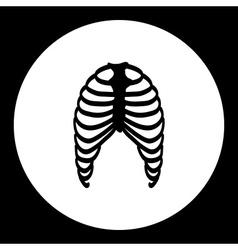 Human ribs bones black simple icon eps10 vector