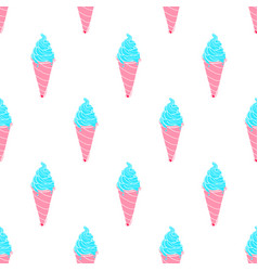 Ice-cream pattern colored-30 vector