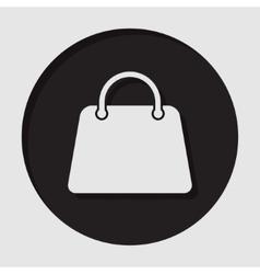 information icon - handbag vector image
