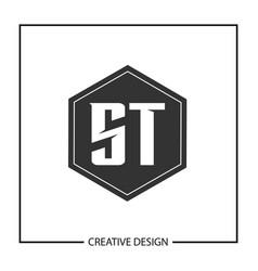 initial letter st logo template design vector image