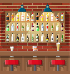 interior of pub cafe or bar vector image