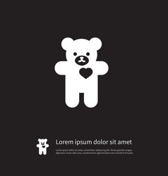isolated cuddly icon bear element can be vector image