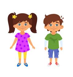 kindergarten kids characters vector image