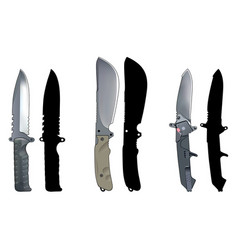 Knives set2 vector