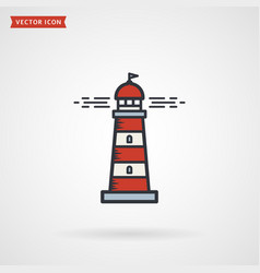 lighthouse colored outline icon symbol isolated vector image