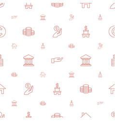 loan icons pattern seamless white background vector image