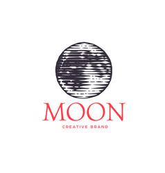 logotype moon vector image