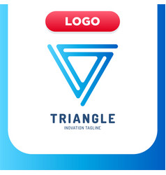 modern and simple triangle logo in line style vector image