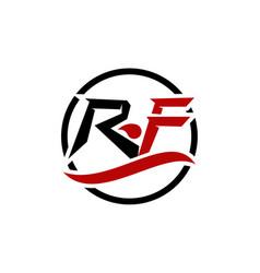 Modern solution letter r f vector