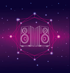 Music and technology concept vector