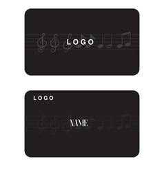 name card music note black background image vector image