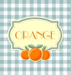Orange label vector