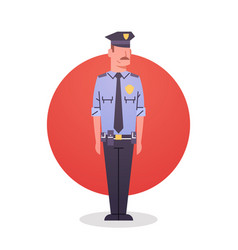 policeman icon male cop guard security vector image