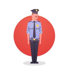 Policeman icon male cop guard security vector